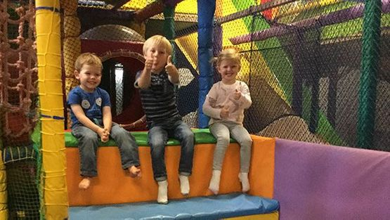 Some of the children in one of our play areas